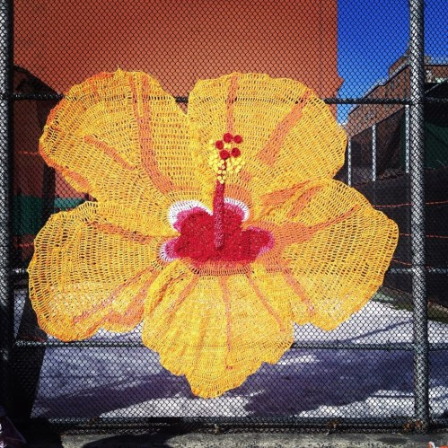 Hibiscus by Naomi Lawrence and friends, 105th/Lexington Ave.