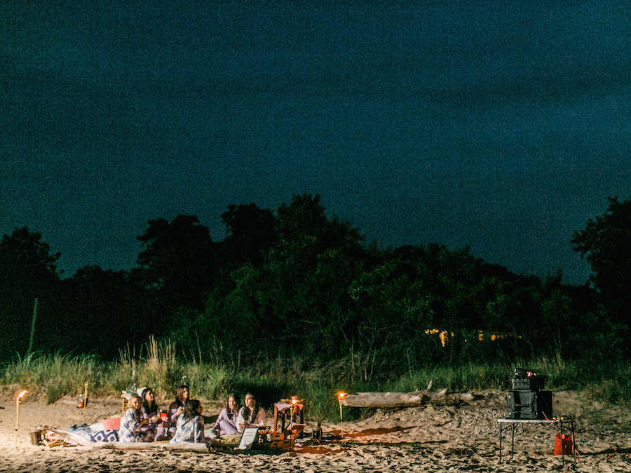 Movie on the Beach Bachelorette Party Inspiration   Photography by Christina Zen Photography