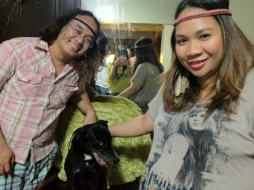 with our dog Shine