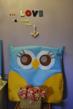 handmade owl by lola, nanay and ate Andre'