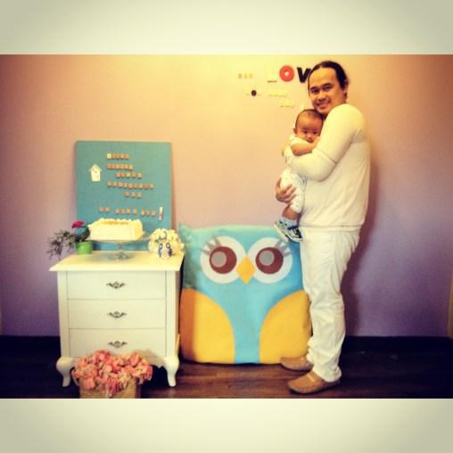 with loving papa