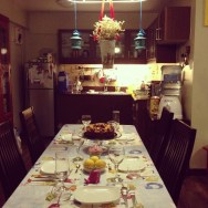 tablescape in celebration of my mom's birthday