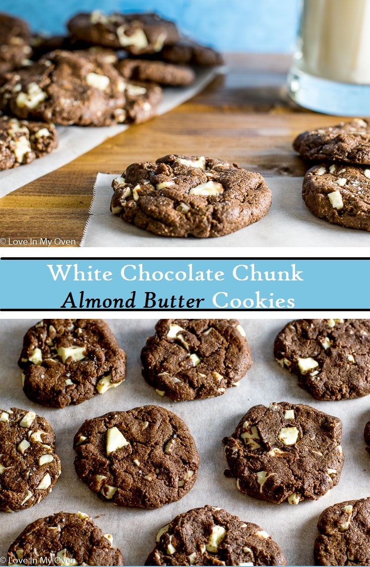 Fudgy, gluten-free almond butter cookies that taste like brownies, without all of the guilt! Ready in less than 15 minutes!