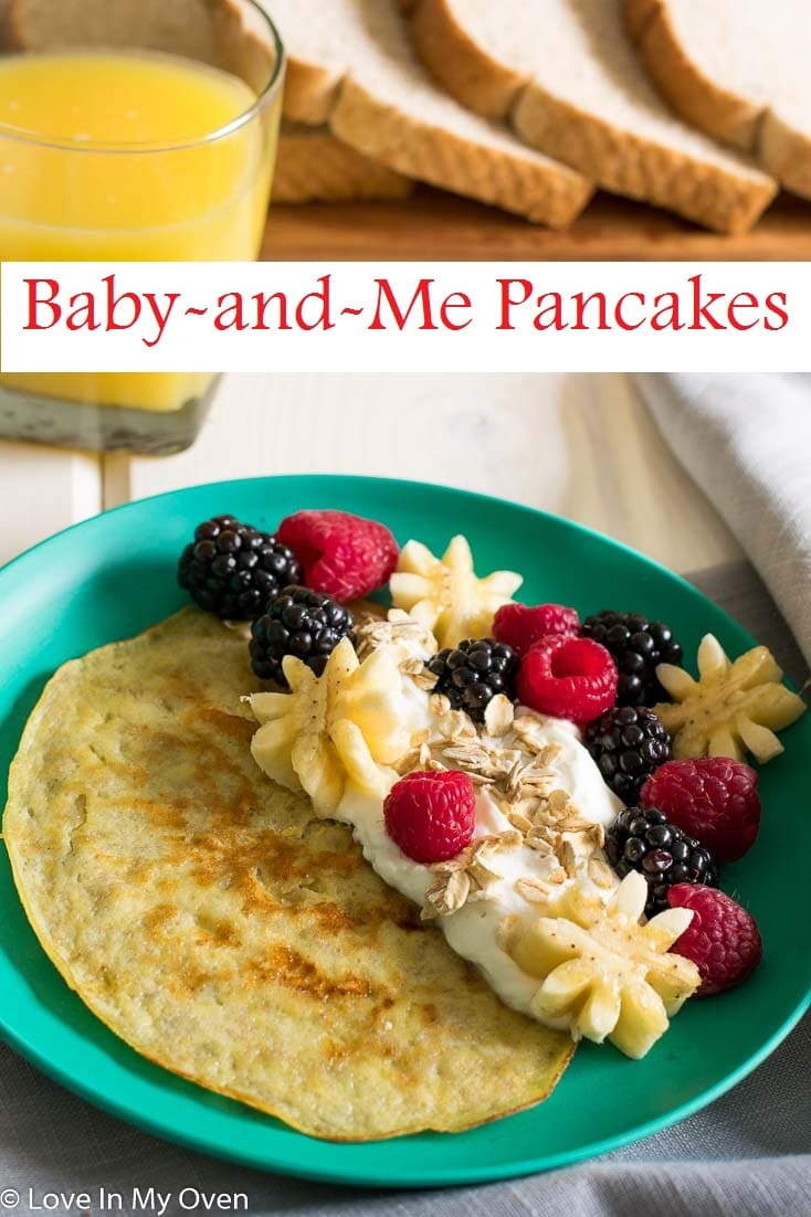 Two ingredient pancakes ready in three simple steps. The perfect breakfast for you and your kiddos on for those busy mornings.