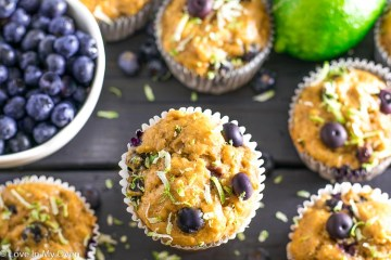 greek yogurt blueberry lime muffins