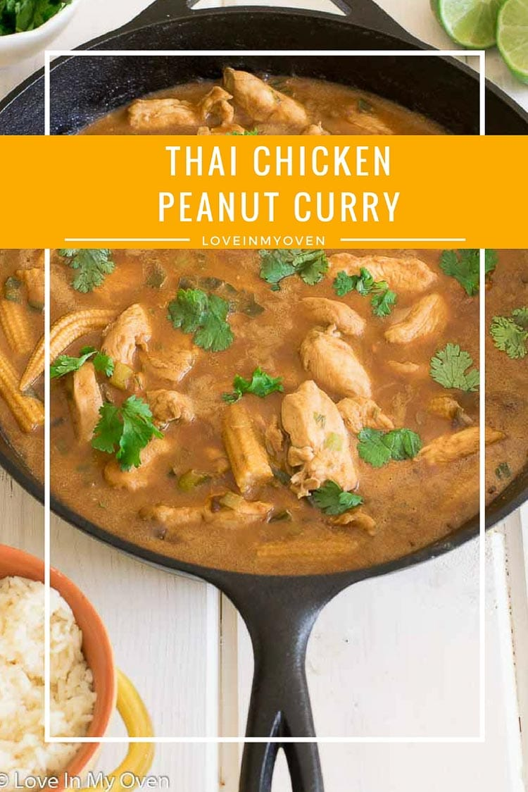 A fragrant, mildly spicy Thai curry with peanut butter and sweet baby corn makes for an easy weeknight dinner.