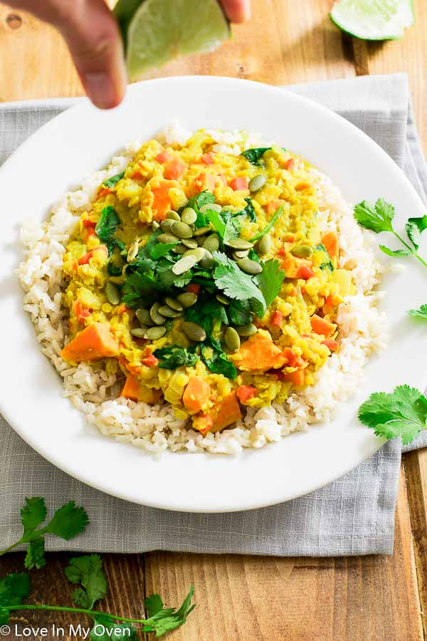 golden lentil curry