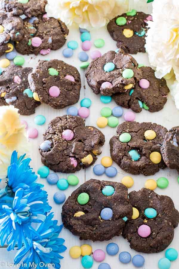 m&m pastel cookies