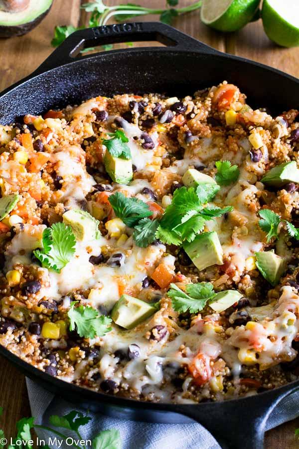 cheesy mexican quinoa skillet