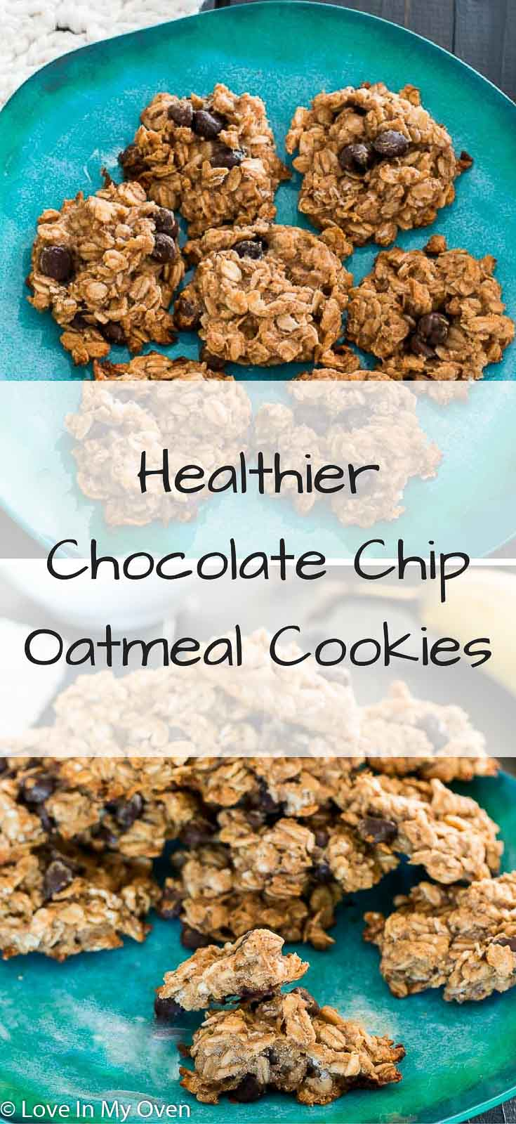 A 4 ingredient oatmeal chocolate chip cookie that you can feel good about!