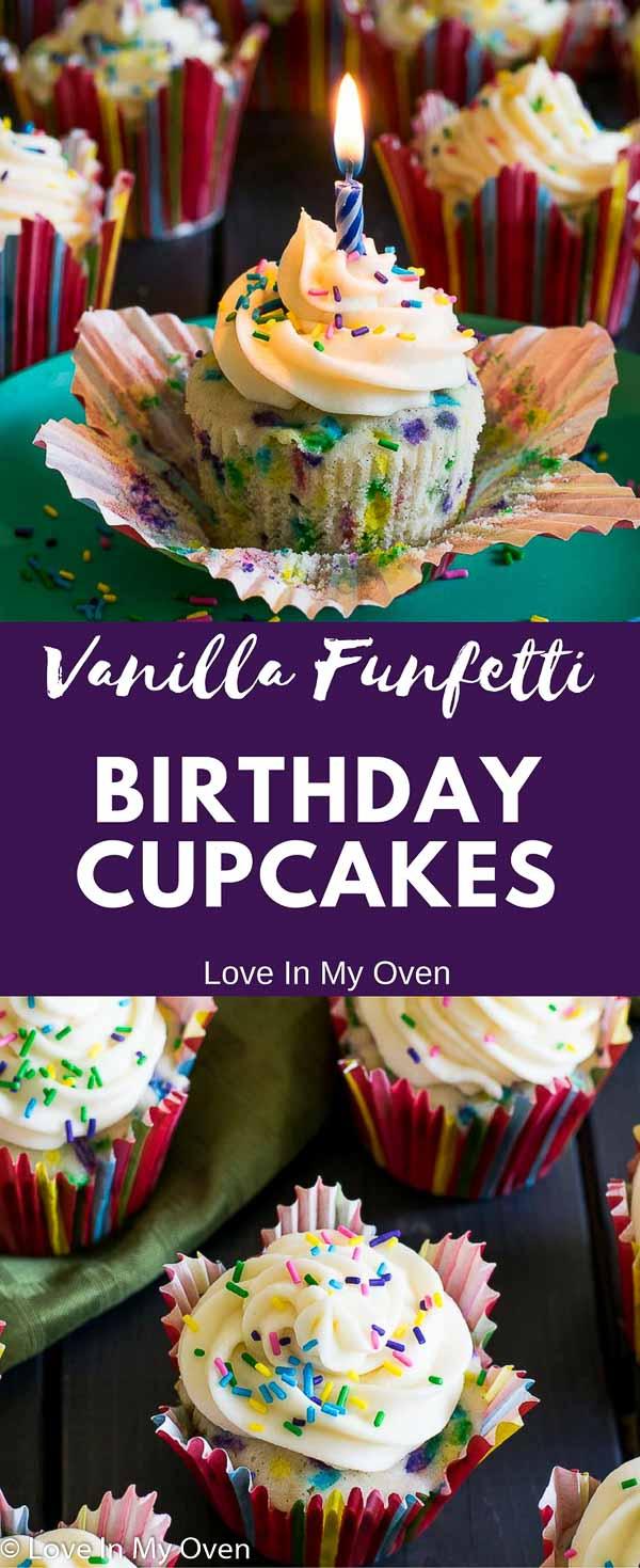 vanilla funfetti cupcakes