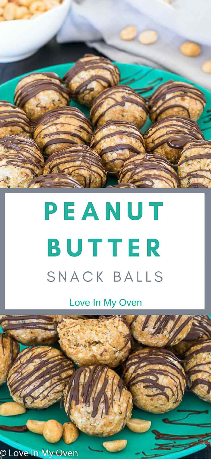 Naturally sweetened peanut butter snack balls - convenient, delicious and filled with protein!