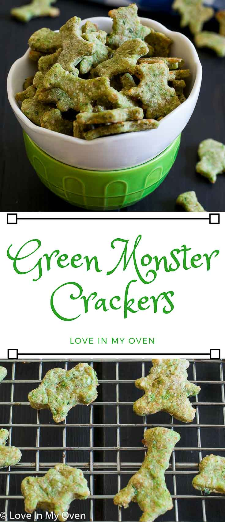 Bite-sized crackers full of spinach and complemented by parmesan cheese make for a nice, light snack!