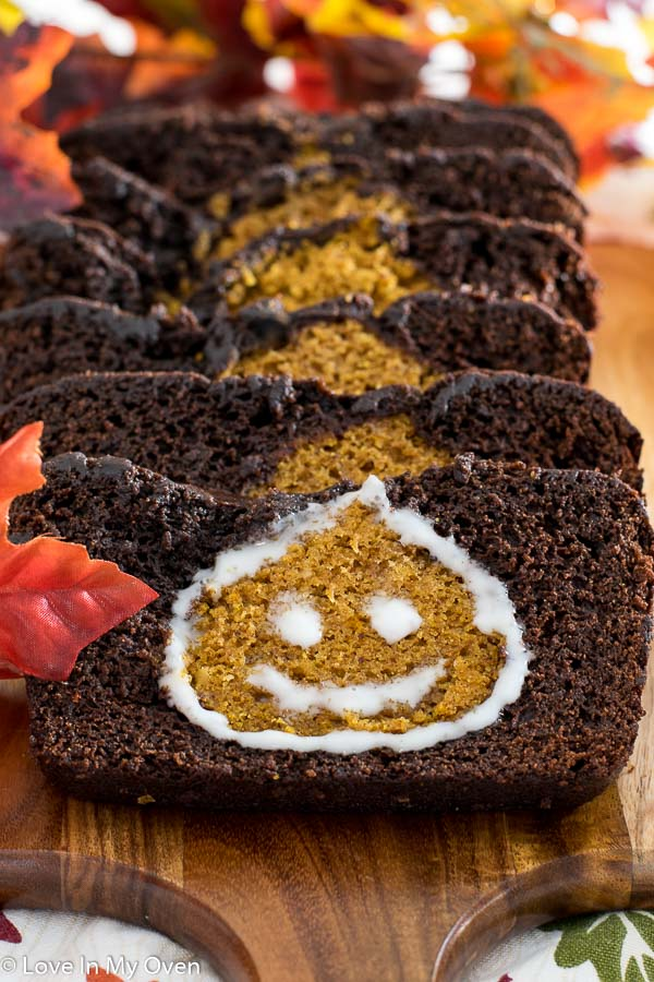 Peekaboo Pumpkin-Chocolate Loaf