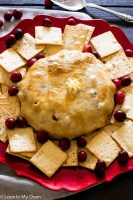 cranberry almond baked brie