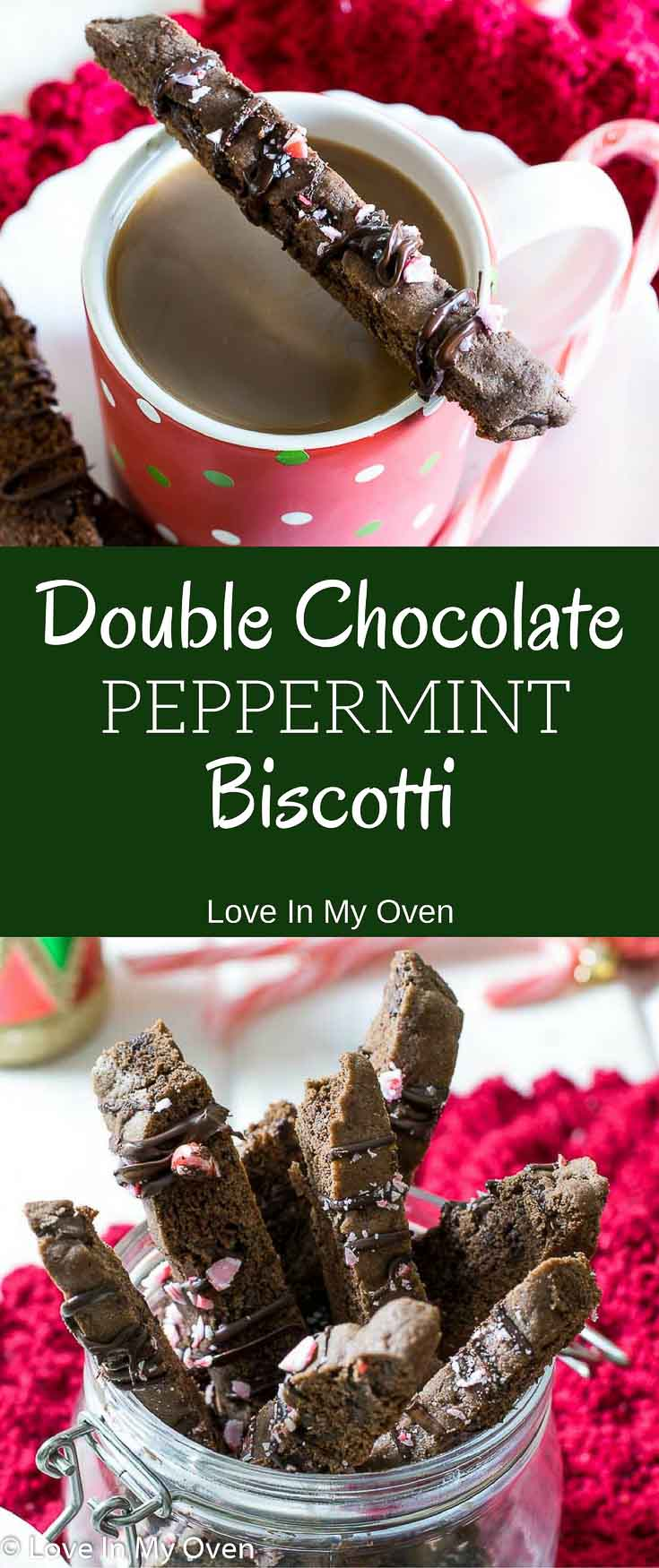 biscotti, holiday baking, double chocolate, peppermint, cookie, chocolate peppermint, Christmas, coffee, snacking, breakfast cookie