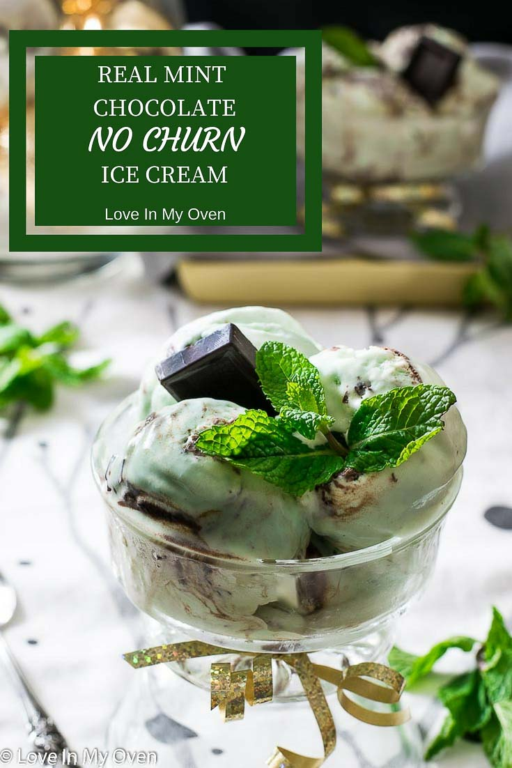 real mint, no churn ice cream, ice cream, chocolate, holiday dessert, holiday ice cream, sweet tooth, green, easy recipe, diy