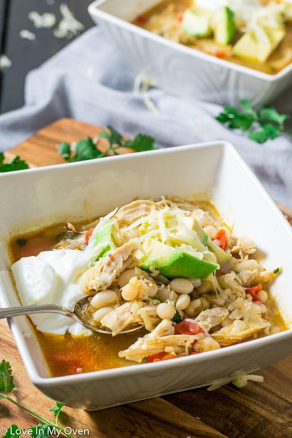 Easy Leftover White Chicken Chili