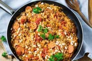 Zesty Sausage and White Bean Skillet