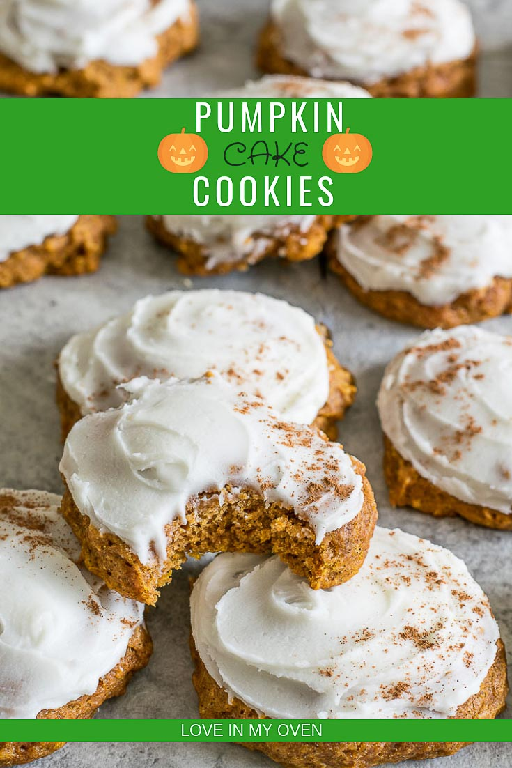 Take a bite out of these soft, cakey pumpkin cookies with a simple, sweet frosting!
