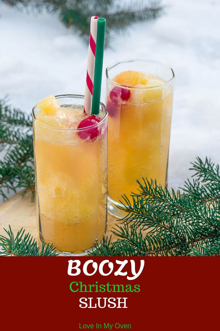 Mix it up this winter with this easy, fruity vodka slush mixed with bubbles of your choice! Top it off with a cherry and you\'ve got yourself a fantastic holiday cocktail!