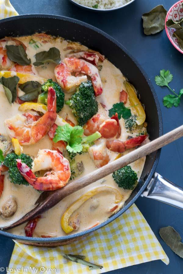 Red Thai Prawn Curry