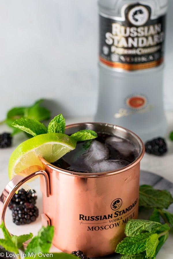 Blackberry Mint Moscow Mule