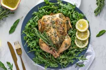 Roast Chicken with Dijon Herb Butter