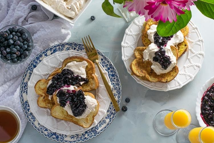 Earl Grey French Toast with Blueberry Compote