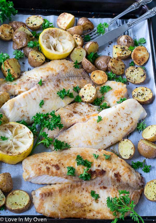 Pan Seared Tilapia With Lemon Butter Sauce Love In My Oven