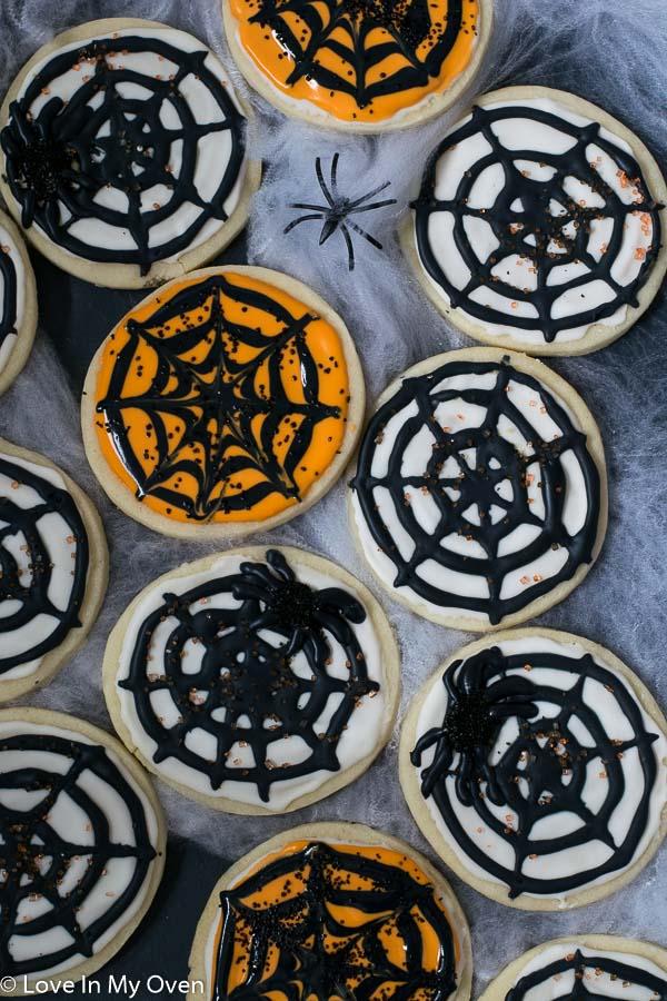 spiderweb cookies
