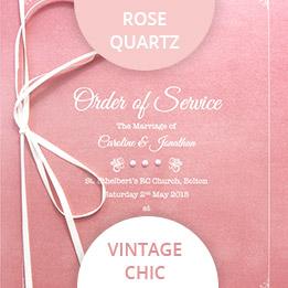 rose quartz wedding colours