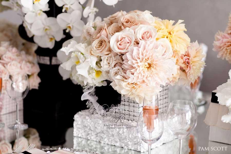 Amaze Floralista Karen Tran  Chanel Inspired Tablescape