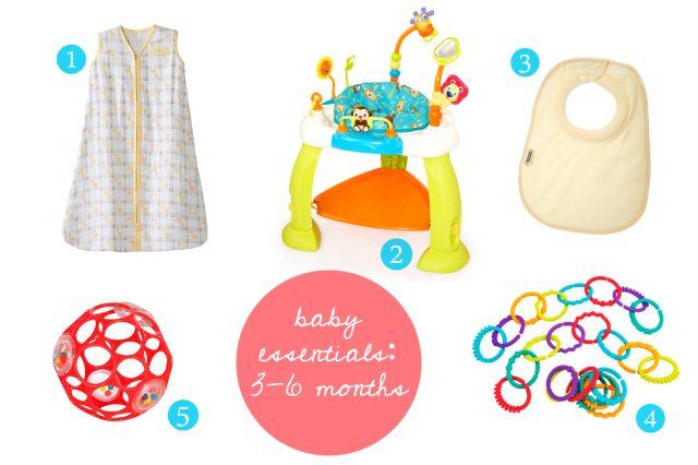 baby essentials 3-6 months