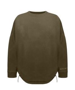 Rundhals Sweatshirt mit Schnürung am Bund