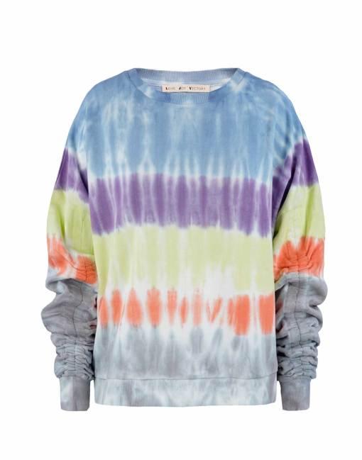 Bartik Sweatshirt mit gerafften Ärmeln
