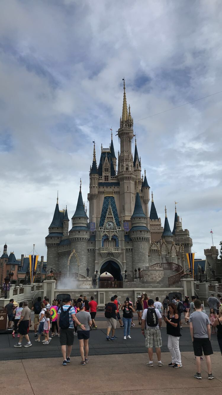 Walt Disney World castle in Florida in October