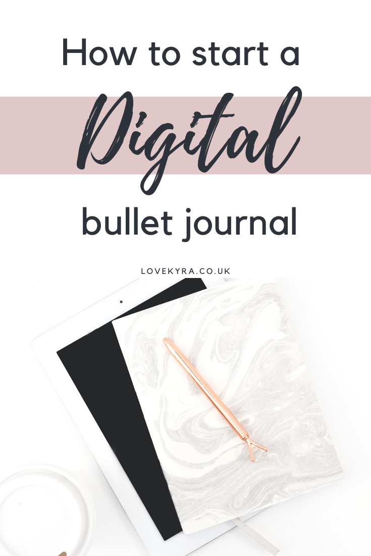 How to create a digital bullet journal on your iPad using goodnotes and procreate