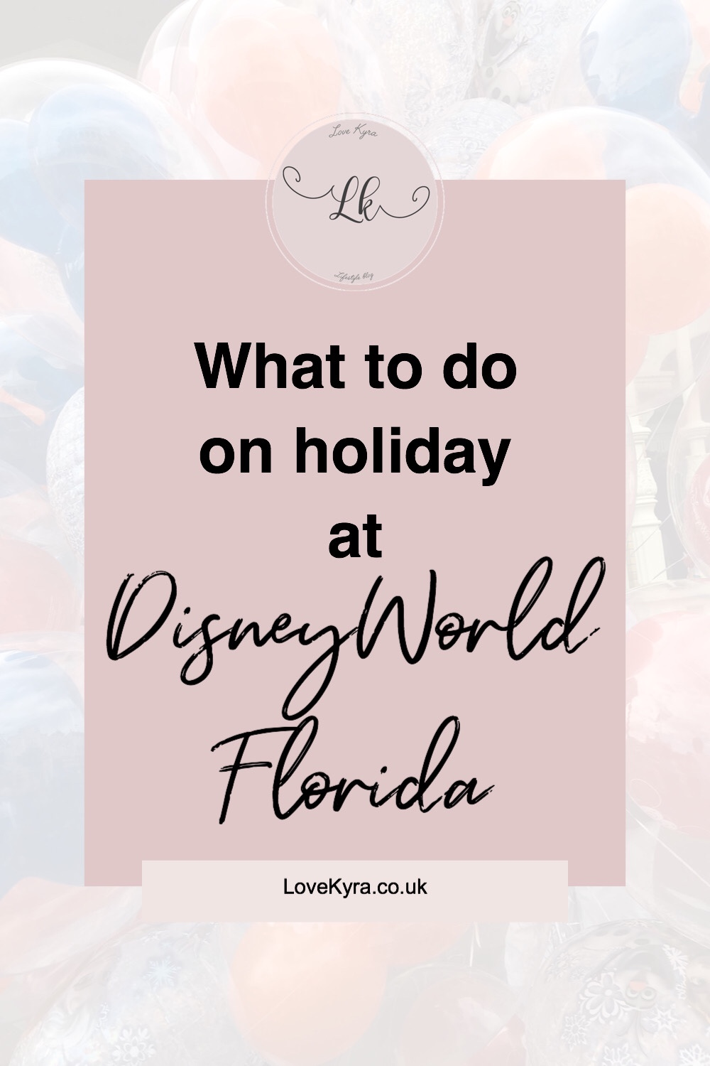 Things to do at Walt DisneyWorld blog post pin graphic
