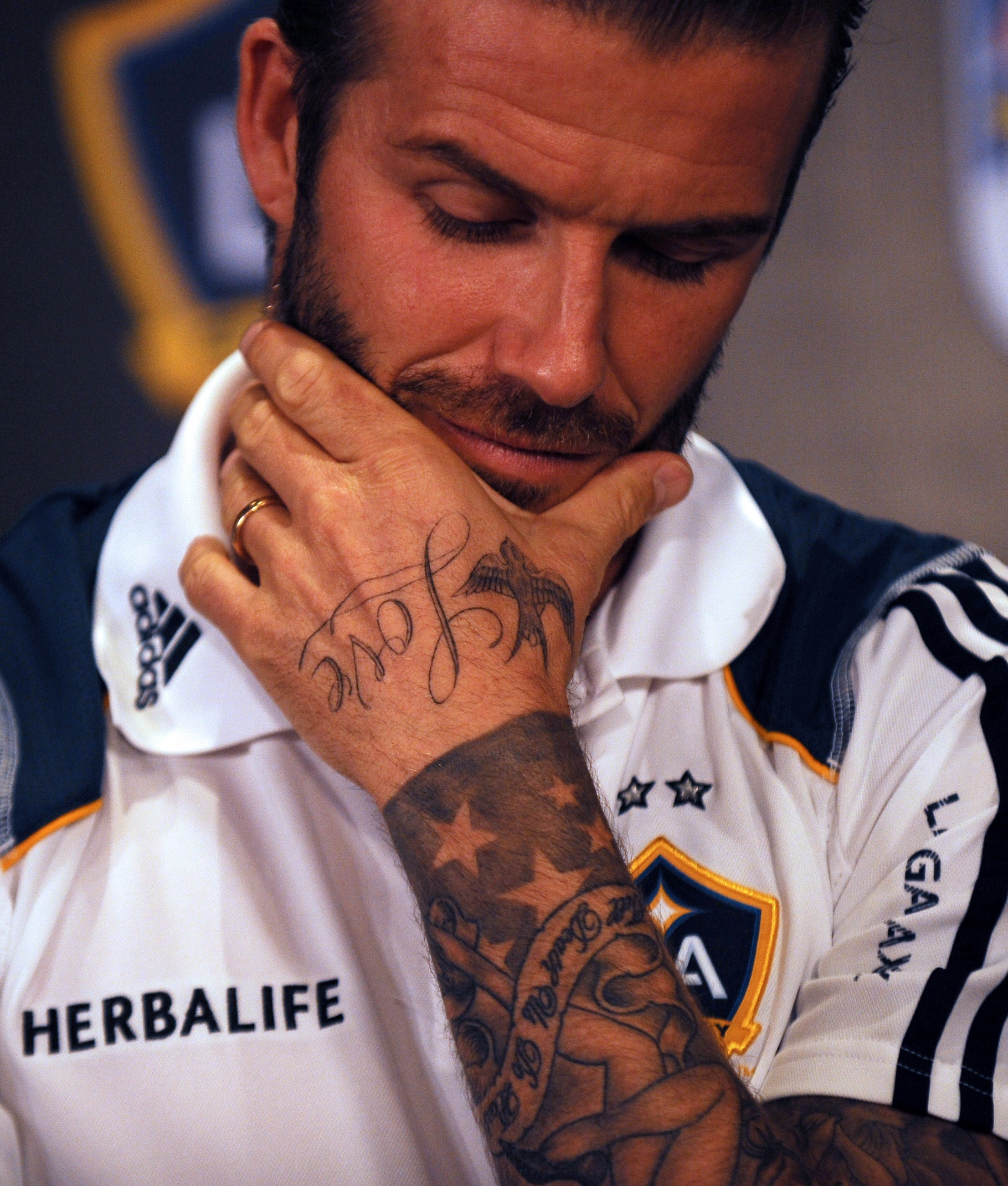 David Beckham Neck Tattoo