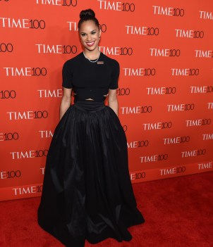 Misty Copeland cute outfits - Black crop top and black full maxi skirt