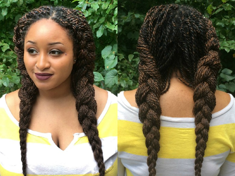 3. french braid pigtails