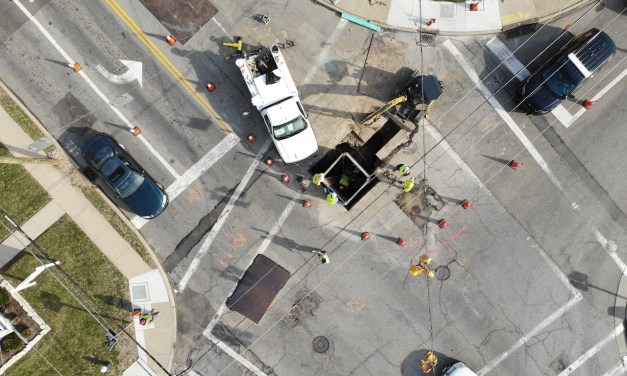 Gas line replacement interrupts traffic