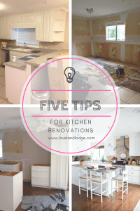 Five Tips for Kitchen Renovations