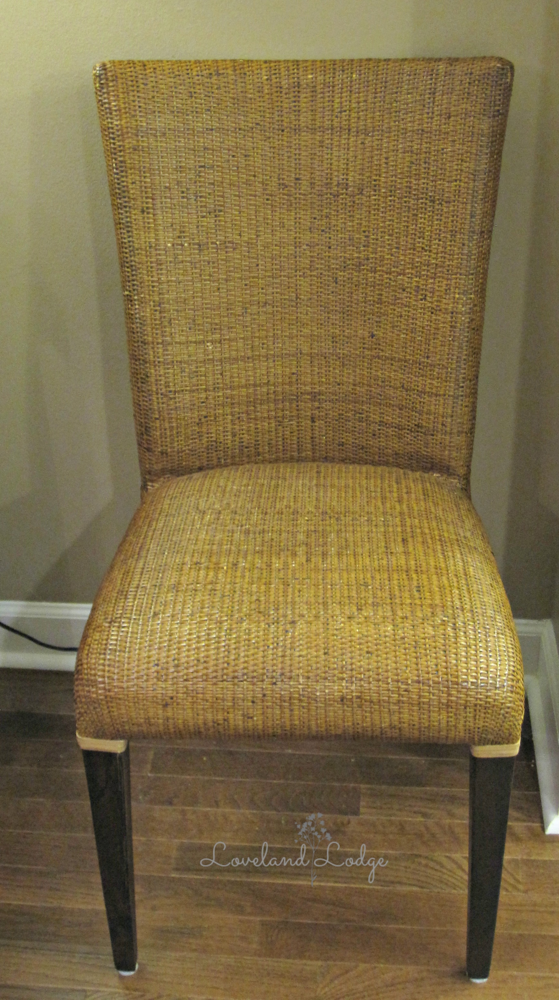 comfortable wicker chairs parsons chair seat covers chalk paint makeover loveland lodge