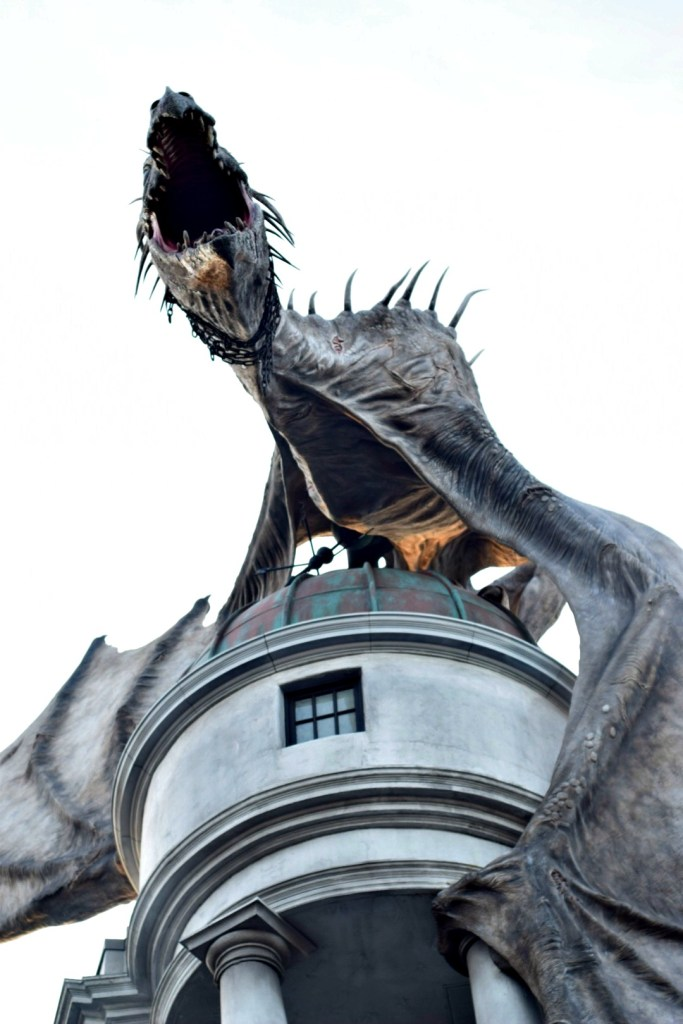 The dragon above Escape from Gringotts