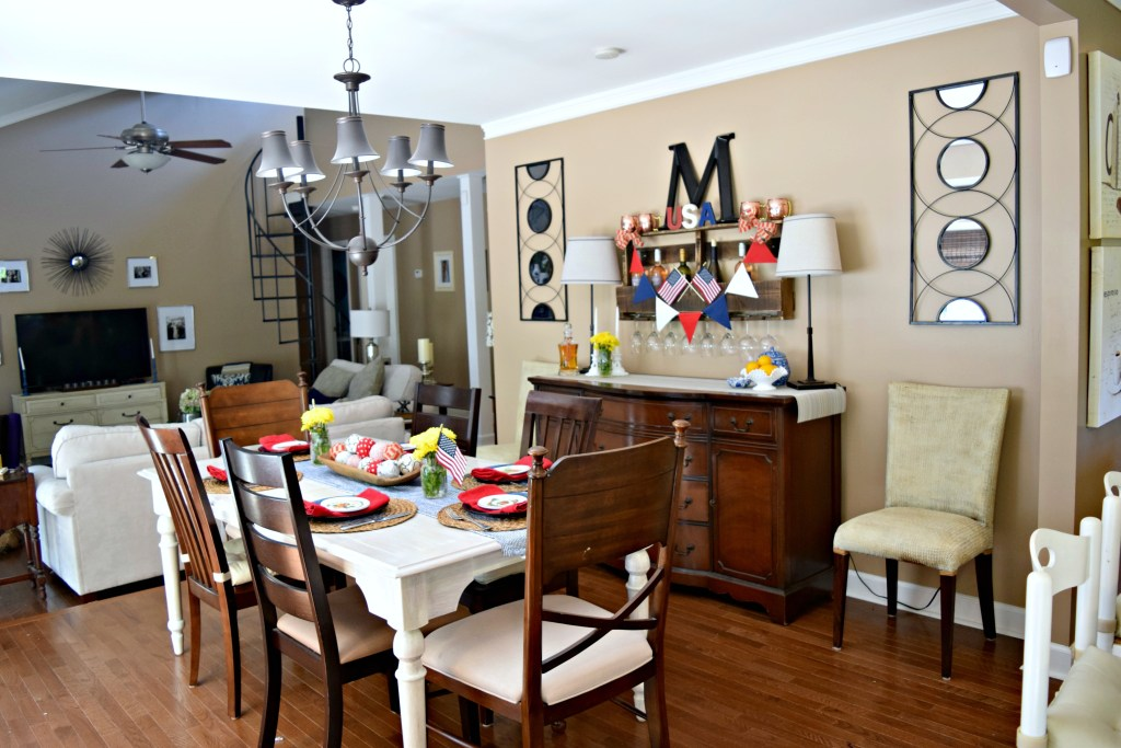 Fourth of July dining room