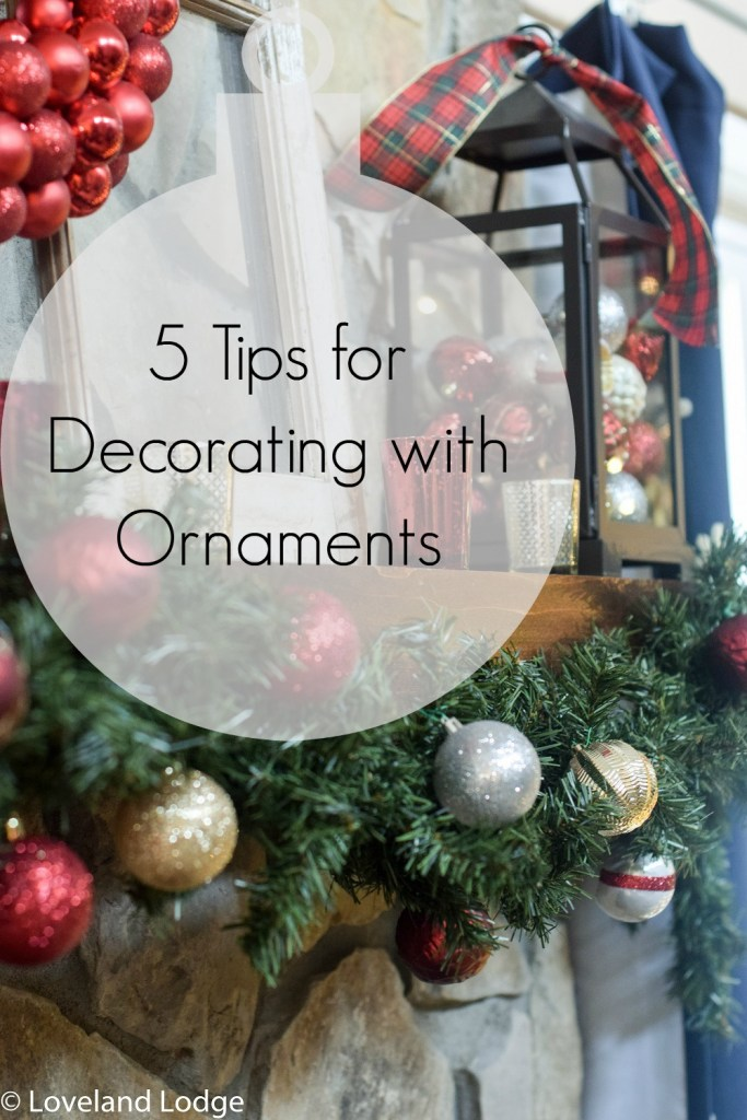 Five tips for decorating with ornaments