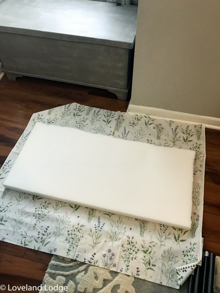 French linen chalk paint bench makeover
