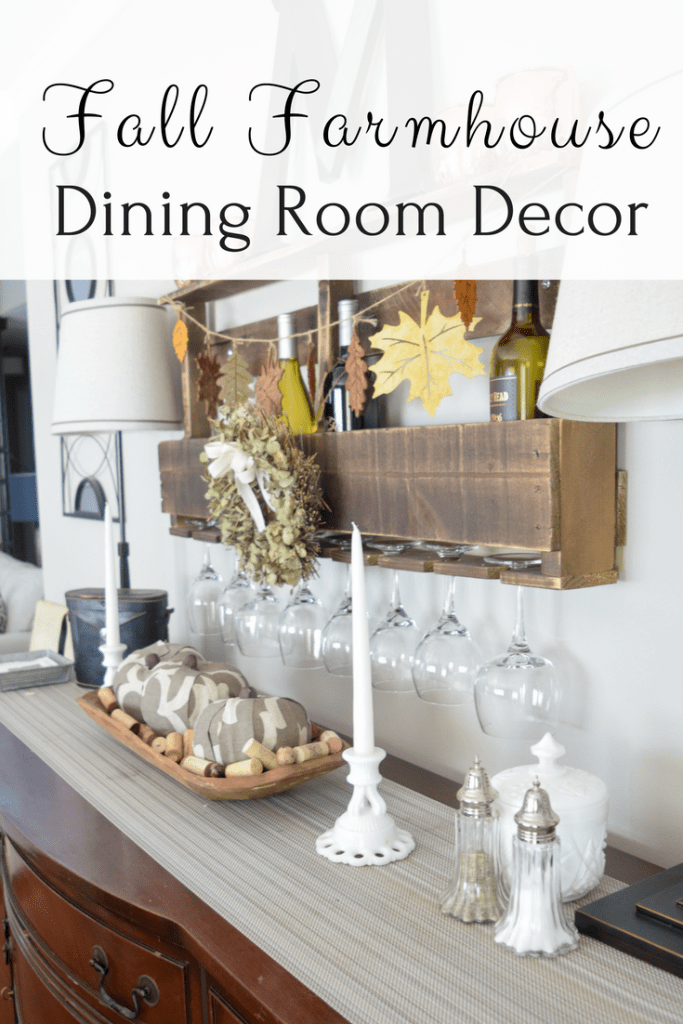Rustic and Farmhouse Fall Deecor - Fall Dining Room Buffet